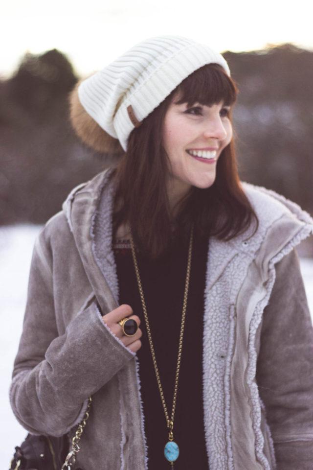 California Moonrise, Boho, Fashion, Dress, Wanderlust, Stephanie Kantis, BYLYN, luxury fur accessories, Winter, Snow, Style, Vintage, Dusk, Snowfall, Victoria