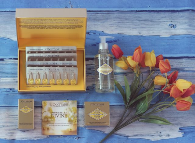 L'Occitane Immortelle 28 Day Divine Renewal Program, L'Occitane Immortelle Divine Cream, L'Occitane Divine Eyes, review, beauty blogger, beauty, skincare, organic