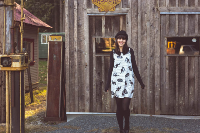 Smack Parlour, Kitten Around Dress, Vintage, Fashion, Paradise Boutique, Victoria, Mod, Beret