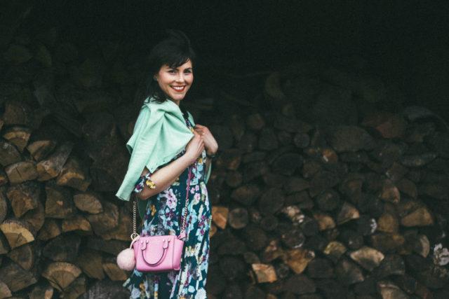 GUESS Aliyah Lace-Up Dress, Mint Cardigan, Floral Dress, Spring Fashion, Kate Spade New York,Vintage, Spring, Pink