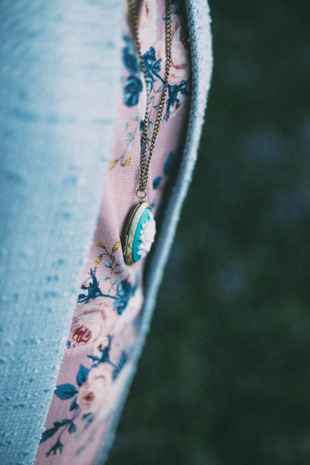 DESIGN LAB LORD & TAYLOR Printed Wrap Dress, CALVIN KLEIN Open Tweed Jacket, Kate Spade Camera Bag, Pink, spring fashion, Marie Antoinette, Beret, French, Parisian, Spring