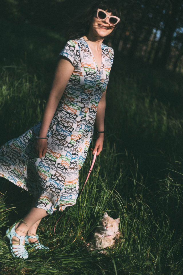 Love Ur Look London , Sun Jellies, Glasses 40s Tea Dress, Vintage, Retro, Summer, Dress