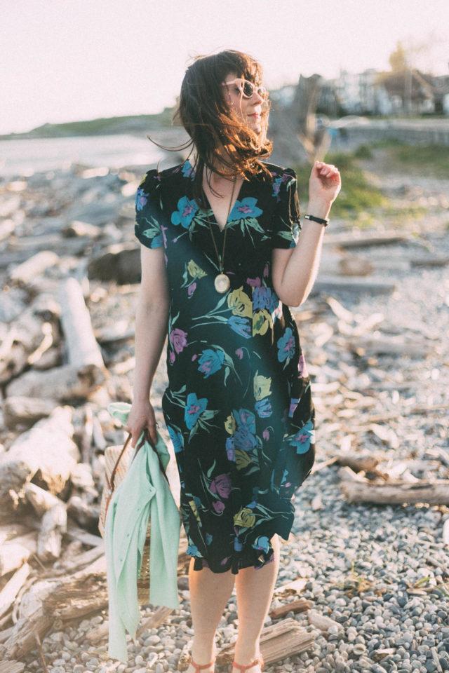 Loco Lindo, Everyday vintage inspired fashion, Los Angeles, Retro, 1940s, Spring, Floral, Vintage replicas