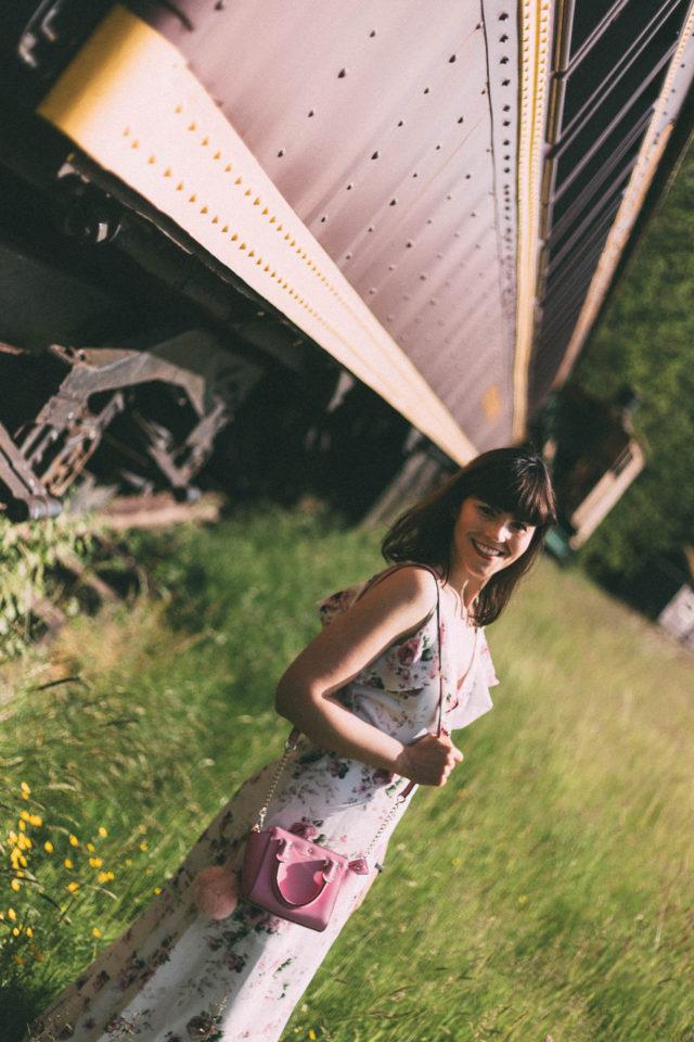 DESIGN LAB LORD & TAYLOR Floral Faux Wrap Maxi Dress, Floral Dress, Maxi Dress, Vintage, Summer,