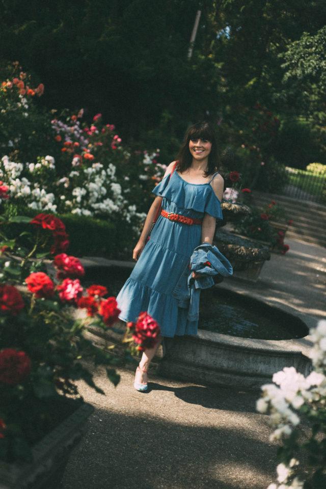 Ruffle-Trim Tencel® Dress for Women, Old Navy, summer, vintage, dress, Kate Spade, Rose Garden