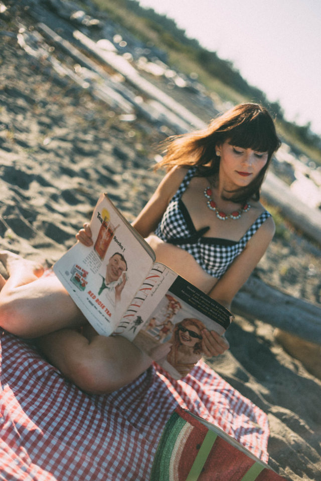 Swimsuits for all, Gingham, Bikini, Retro, vintage, summer, beach, picnic, watermelon, coverup, pinup, fashion,
