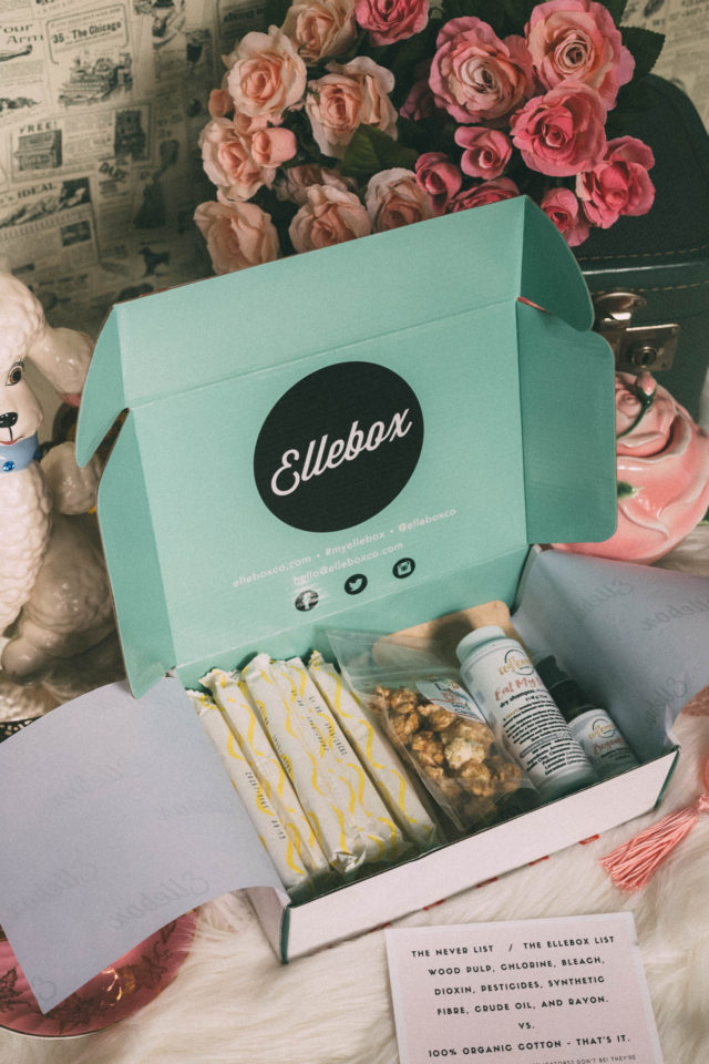 Ellebox, Subscription Box Service, period, 100% organic cotton feminine hygiene