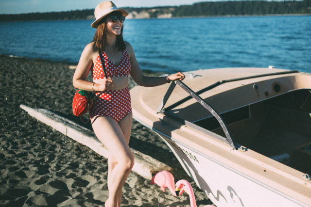 Diva White Dot High Waist Bikini, Swimsuits For All, Retro Bikini, Vintage Bikini, Pinup, summer, fashion, swimwear, beach,