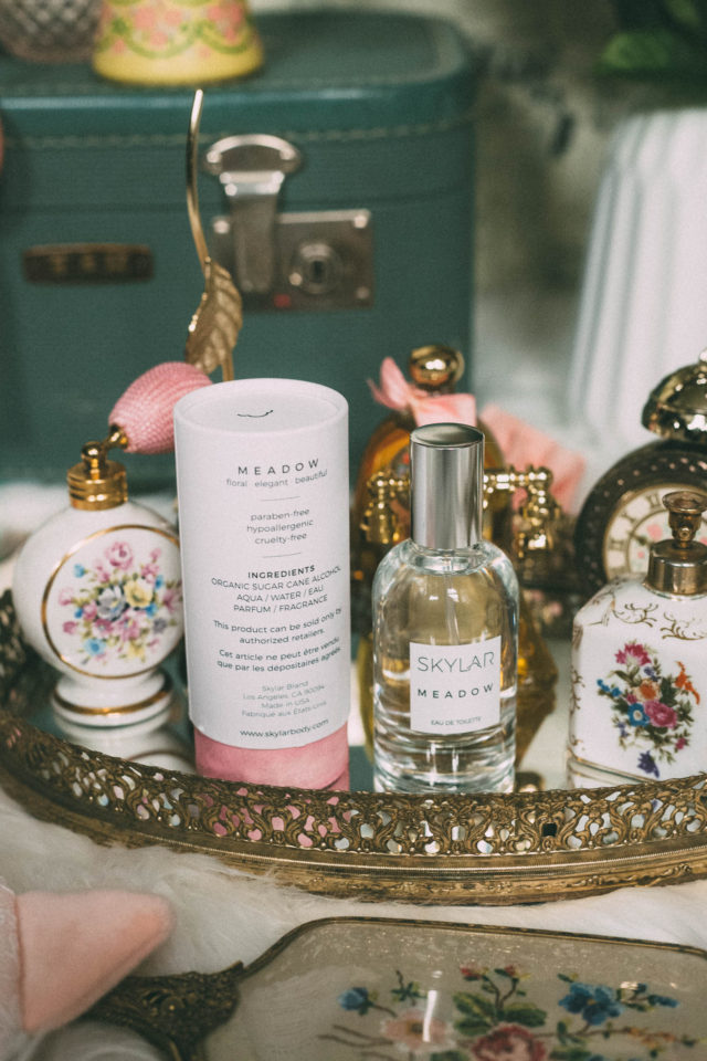 Meadow Perfume by Skylar Body, Floral Elegant, Beautiful scent, Skylar Body, Cruelty Free, Natural, Hypoallergenic Perfume, tuberose, rose, baie rose, patchouli, cistus flower