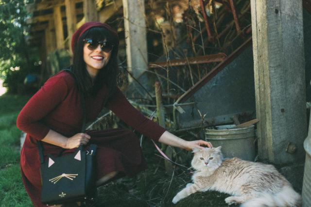 Wednesday Crochet Collar Dress, Joanie Clothing, Peter Pan Collar, Kate Spade New York, Cat Bag, Versace, Beau XoXo, Fall, Fashion, beret, vintage, style, dress, Pinky