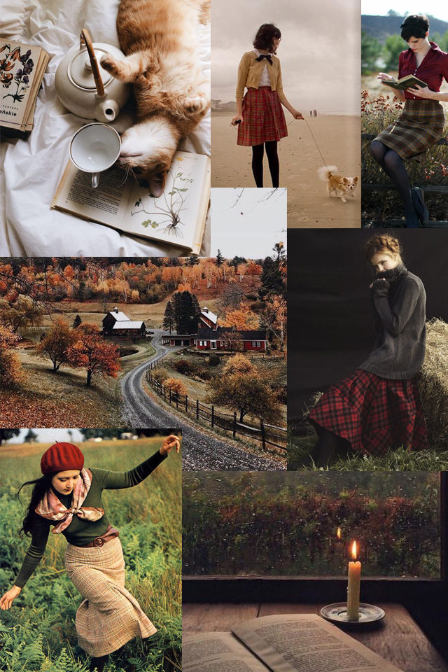 Plaid, Fall Fashion, vintage, retro, inspiration, tartan, cozy, leaves, foliage, autumn, style, fashion,