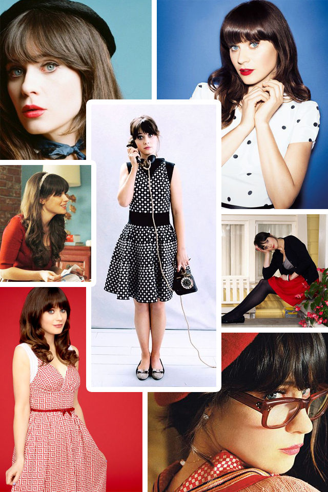 New Girl, Fashion, Style, Vintage, Retro, Zooey Deschanel , icon