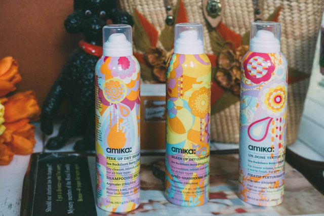 Amika, haircare, cruelty free, vegetarian, Velveteen Dream Smoothing Shampoo, Velveteen Dream Smoothing Conditioner, Silken Up Dry Conditioner, Perk Up Dry Shampoo, Bombshell Blowout Spray, Un.Done Texture Spray, review