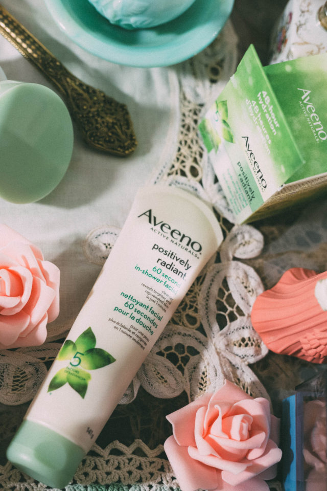 aveeno-positively-radiant-60-second-in-shower-facial, aveeno-positively-radiant-overnight-hydrating-facial, Aveeno, ACTIVE NATURALS® Soy, positively radiant , Aveeno, Facial, moment for me
