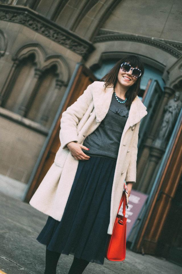 Trina Turk, rossmore sweater, floris skirt, tulle Skirt, cassis sunglasses, vintage fashion, blogger,