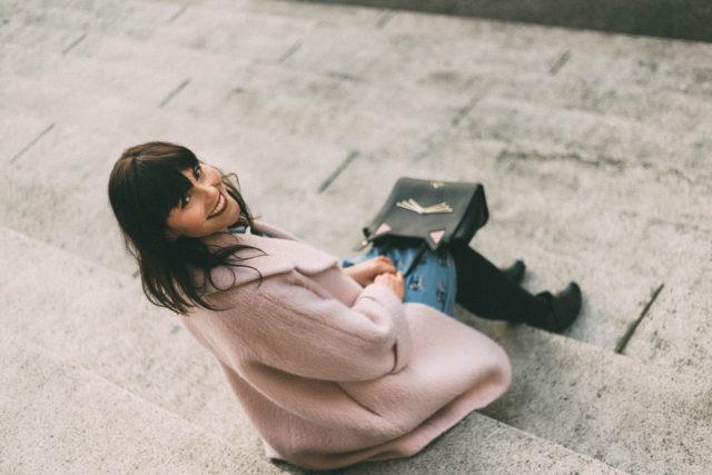 Martha Cat Print Shirt Dress, Joanie Clothing, Ever New, pink coat, Jackie Coat, vintage, style, winter, blogger, fashion, Kate Spade