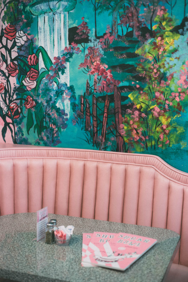 BLISSFUL BLOOM DRESS, pink floral, pink bag, Bauble Bar, Cupcake ATM, Sprinkles Cupcakes, Sugar bowl Ice Cream Parlour, Scottsdale, Arizona, Vintage, Fashion, Review Australia, vintage Dress,