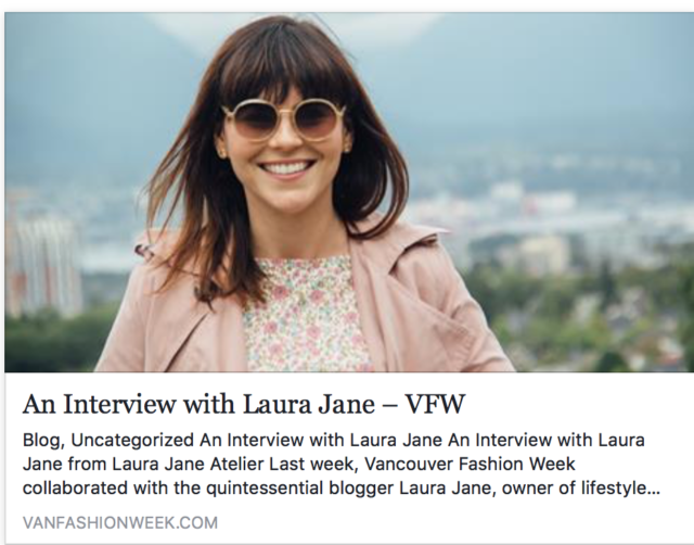 Vancouver Fashion Week, Interview, Laura Jane Atelier