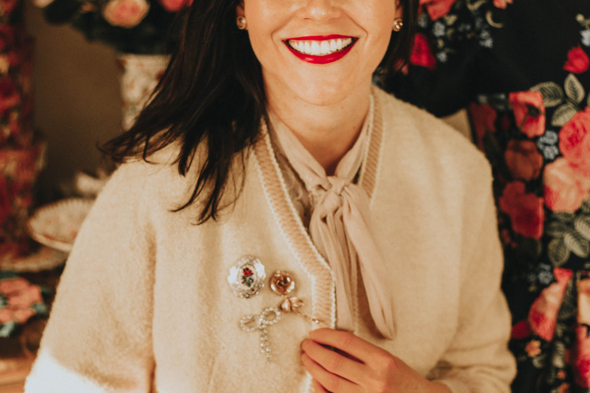 How to Style a Vintage Brooch