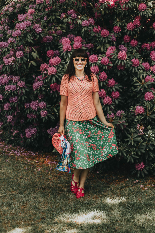 vintage style, summer fashion, vintage fashion, vintage outfit, retro, floral,