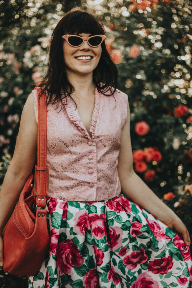 vintage style, summer lookbook, vintage fashion, Laura Ashley, floral dress, Joanie Clothing, vintage,