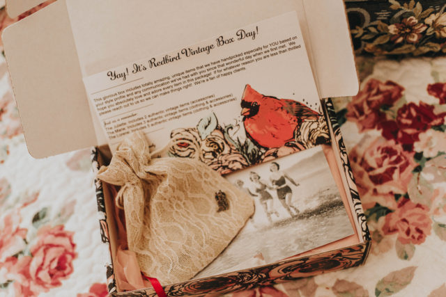 Redbird vintage box, June 2018, Vintage subscription box unboxing, Redbird vintage, vintage mystery box, vintage subscription box