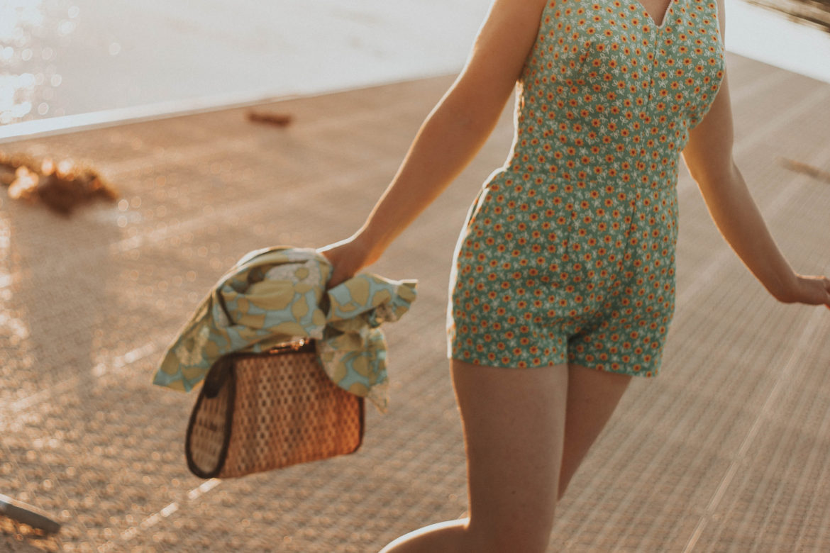 Vintage Summer Swimsuit and Beach Dress