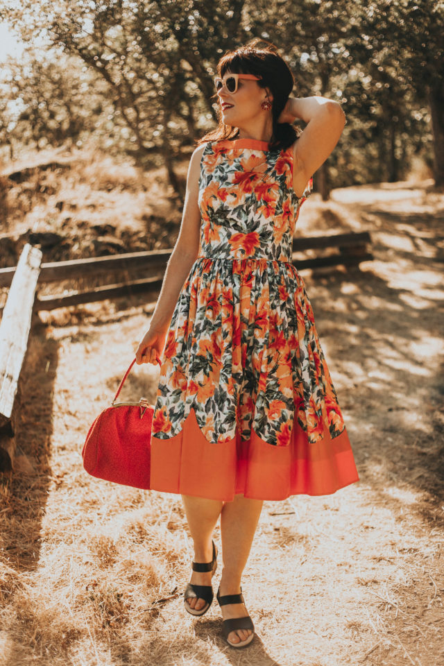 Unique Vintage Summer Haul, Unique Vintage look book, Unique Vintage Fashion Haul, Unique Vintage, Unique Vintage Coral Floral Print Sleeveless Detroit Swing Dress, Vintage Style Yellow & White Gingham Cotton Gail Swing Dress,
