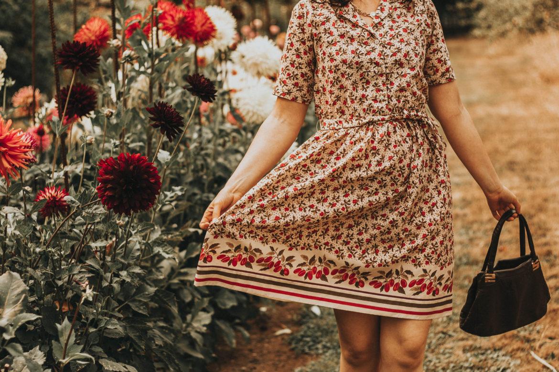 Vintage Floral Dresses for Fall