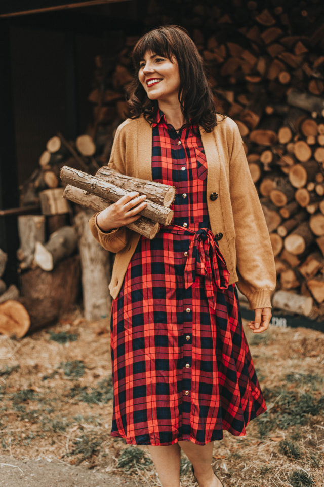 Nordstrom Fal Fashion, 1901 Plaid shirt dress, Shrunken Boyfriend Cardigan BP., Nordstrom, Fall, Autumn fashion, vintage fashion, plaid dress, vintage dress,