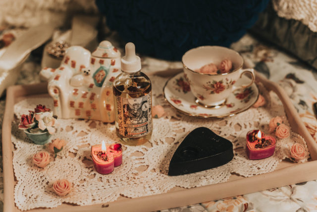 "Margarita Bloom, SPOOKS & SCARES! OUIJA BOARD PLANCHETTE SOAP, TAROT: THE LOVERS ROSE & JASMINE BODY OIL, ""I'M YOUR VENUS"" MAGICAL HEART TEALIGHT CANDLES, organic beauty products, vintage inspired beauty products,"