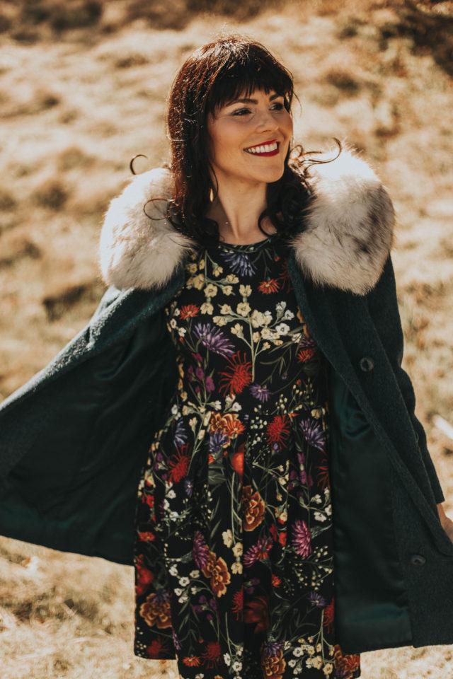 Women's Vintage Winter Coat and clothing Lookbook