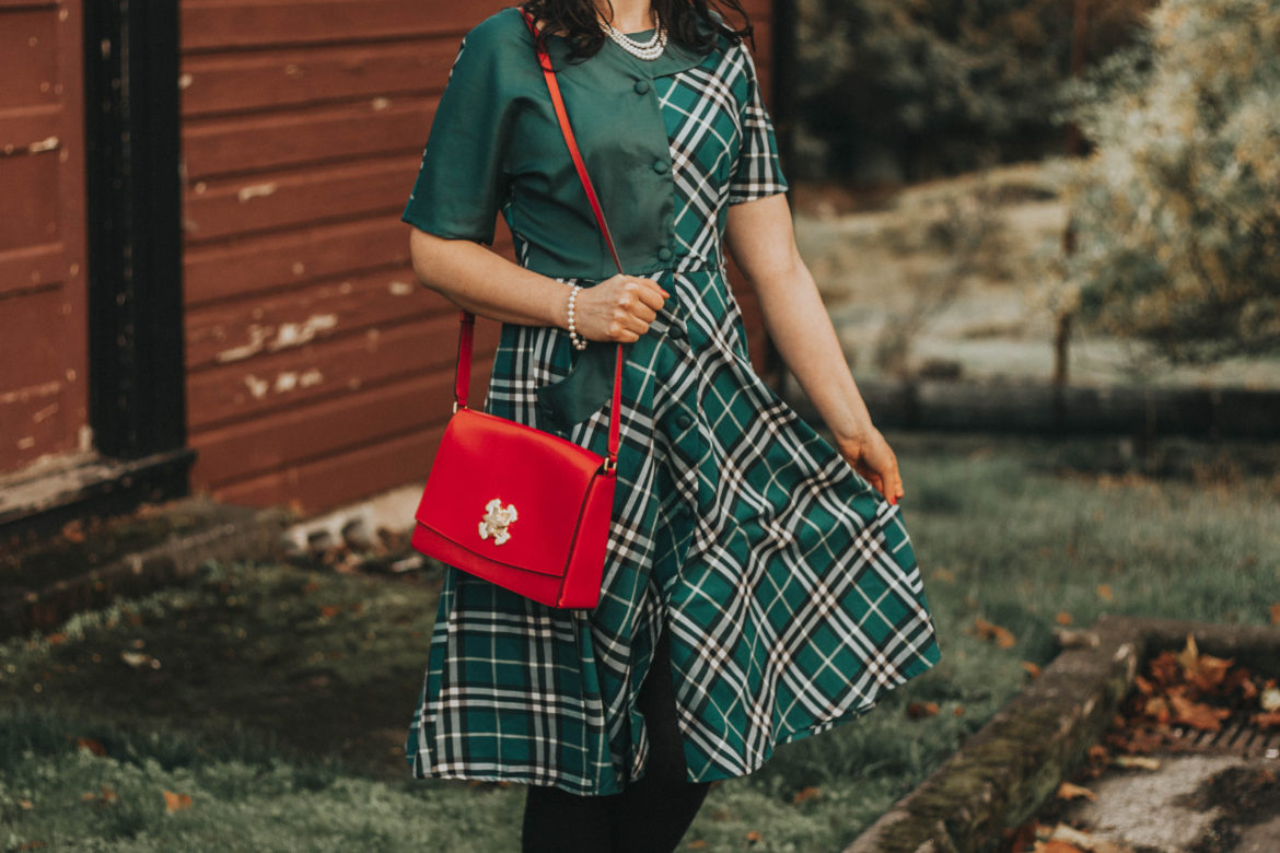 1940s Fall Plaid