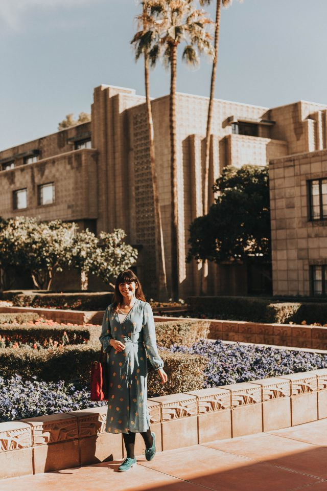 Arizona Biltmore, A Waldorf Astoria Restore in Phoenix, Vintage resorts in Phoenix, Margot Wrap Dress, Sky-Pineapples, silk dress,