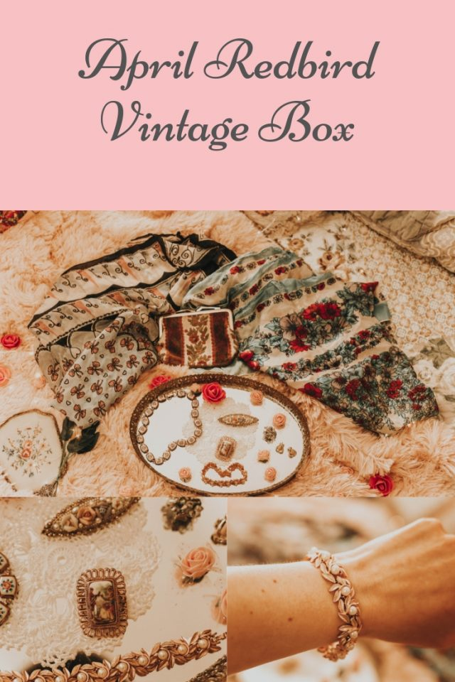 April Redbird Vintage Box, Vintage Subscription Box, Redbird Vintage Box, Redbird Vintage Box,