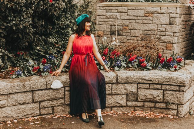 Splendor of the Sunset Gradient Pleated Maxi Dress, chic Wish, vintage Turban, Great Hair Day Turban, vintage inspired Turban, how to wear a turban, vintage inspired pleated dress,