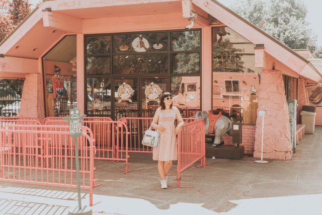 The Palms Motor Hotel Portland, Oregon, review, Voodoo donuts Portland, Alibi Tiki Portland, Contrast Lace Trim Gingham Fit & Flare Dress, SHEIN, vintage-inspired summer fashion