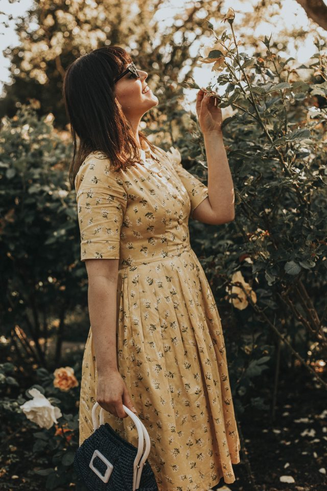 Hearts and Found, Vintage inspired made to measure fashion, vintage inspired dress, 40's and 50's Vintage Inspired Skirts and Dresses, vintage summer, dress, vintage yellow floral dress, Hearts and Found