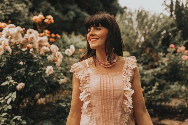 Button Through Schiffy Peplum Top, vintage floral skirt, vintage fashion, Button Through Schiffy Peplum Top, Shein, Summer fashion, vintage feminine fashion