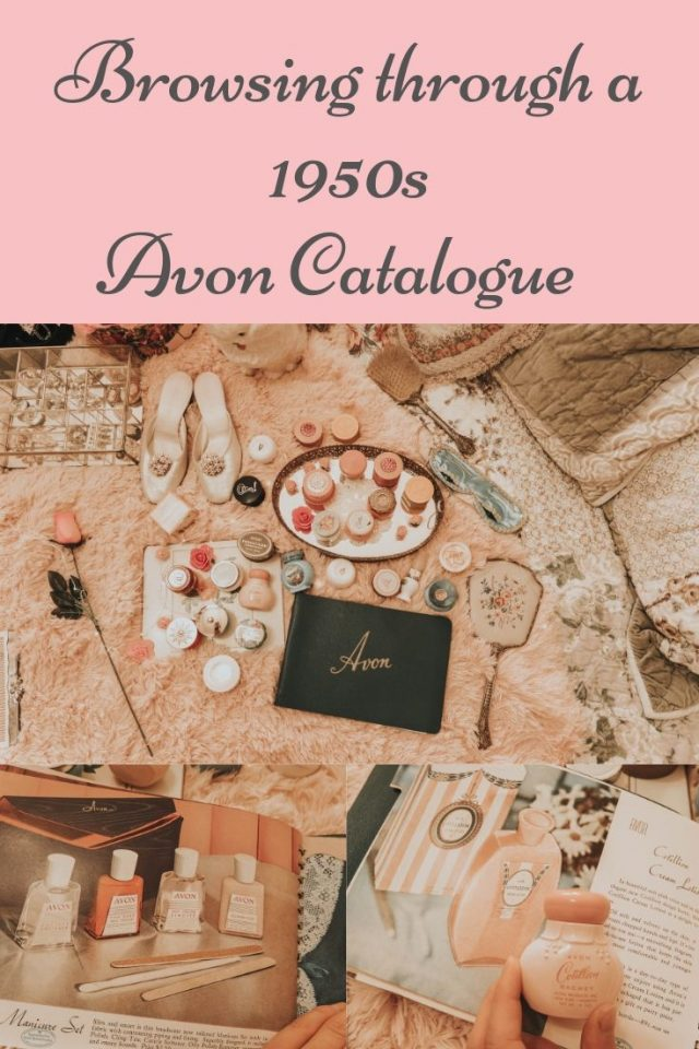 vintage 1950s Avon catalogue, 1950s Avon, vintage Avon, vintage Avon cream sachet collection