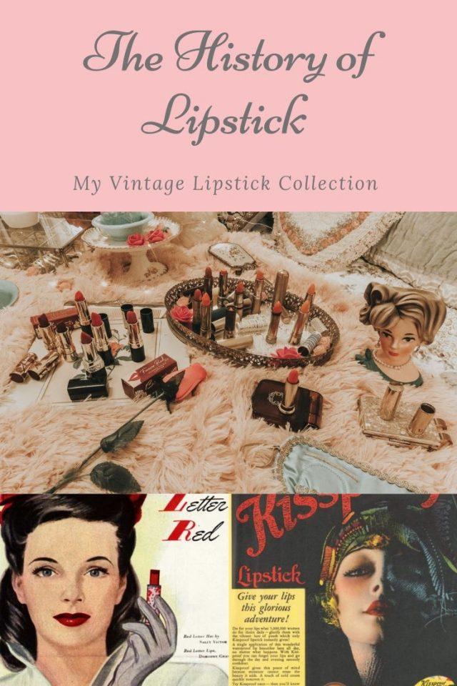 The history of lipstick, vintage lipstick collection, history of lipstick Dior 999 red lipstick, 1950s lipstick, vintage lipsticks you can still buy today