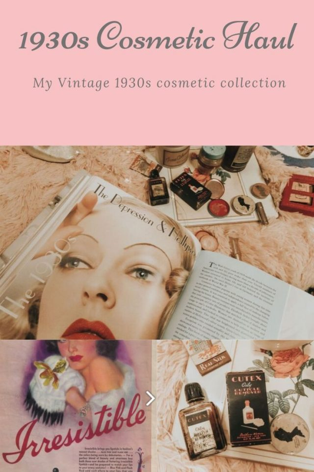 1930s cosmetics, 1930s beauty products, the history of cosmetics in the 1930s. 1930s makeup. 1930s lipstick