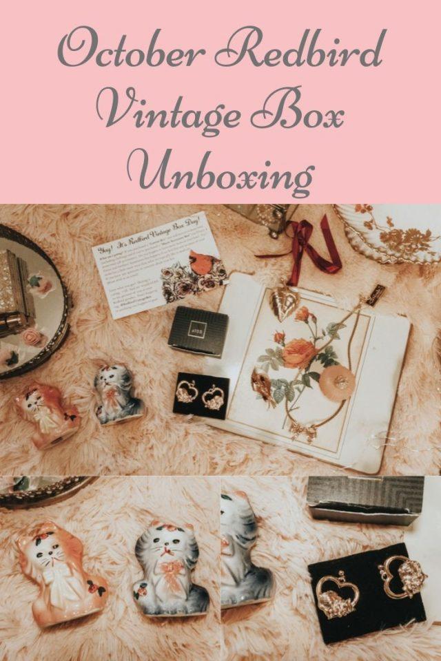 October Redbird Vintage Box, Redbird Vintage Box, Redbird Vintage, Rebird Vintage Box,