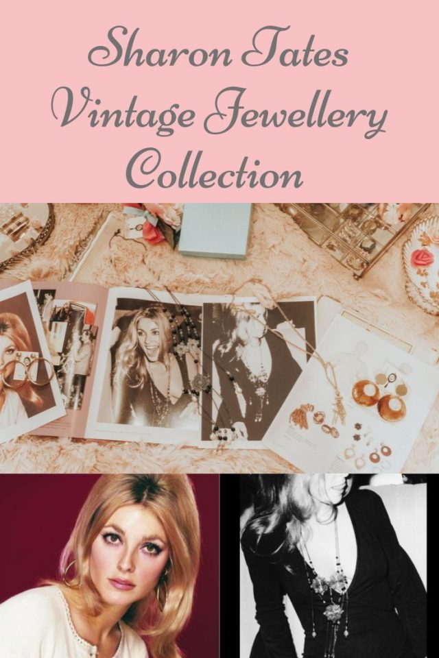 Sharon Tate, Sharon Tate's vintage jewellery collection, Sharon Tate earrings, Sharon Tate's necklace,