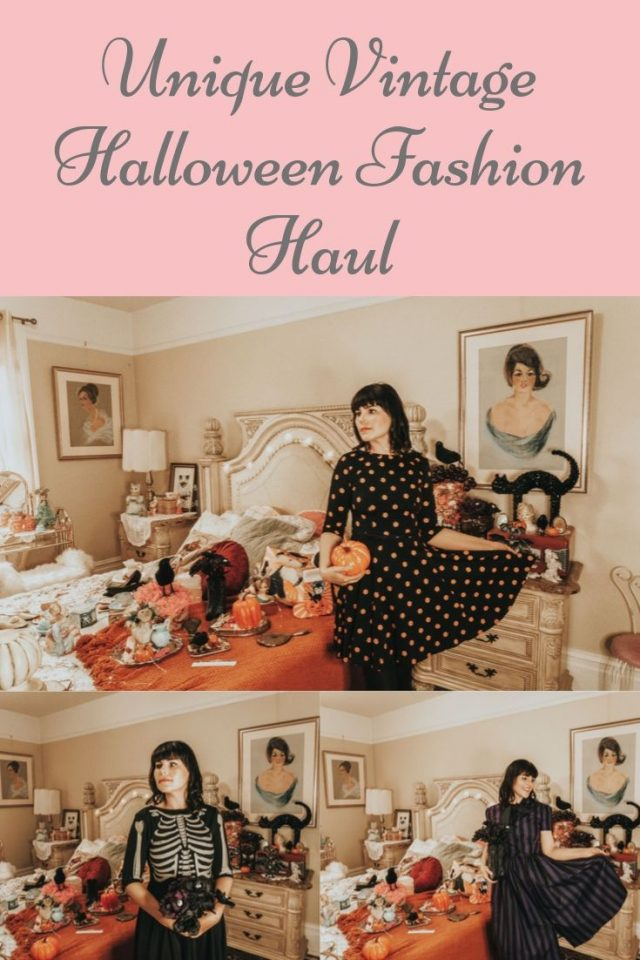 unique vintage, unique vintage Halloween fashion haul, halloween fashion haul, vintage halloween fashion vintage halloween
