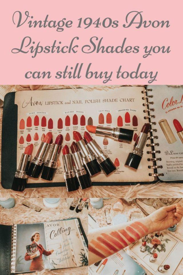 vintage 1940s lipstick shades