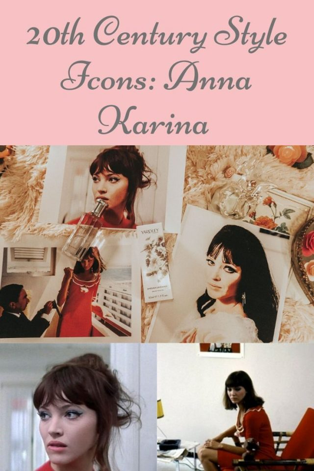 Anna Karina fashion, Anna Karina Style icon, 20th century style icon, Anna Karina favorite beauty products, Anna Karina perfume,