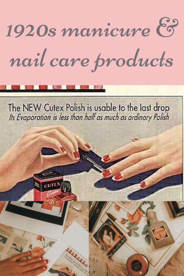 1920s manicure, 1920s nail care, cutex, vintage nail care products, 1920s half moon manicure, how women painted their nails in the 1920s, vintage nail art, 1920s nail art, 1920s nail art, 1920s nails, Art Deco nails, Great Gatsby Nails