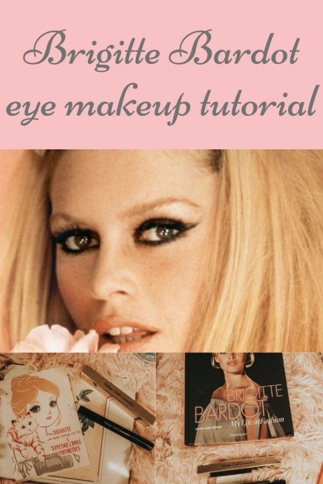Brigitte Bardot, Brigitte Bardot Eye Makeup Tutorial, Brigitte Bardot 1960s cat eye tutorial, vintage cat eye tutorial liquid stamp eyeliner