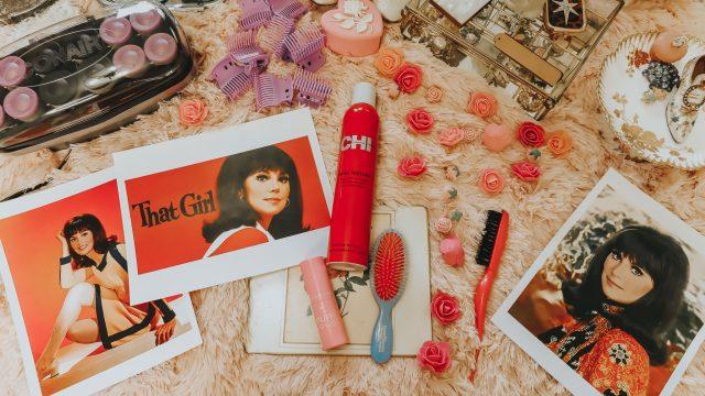 1960s hair tutorial, 1960s bubble flip hair tutorial, That girl hair tutorial, 1960s hair tutorial, Marlo Thomas hair tutorial